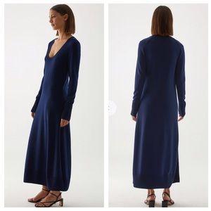 NWT COS A-Line Long Sleeve Maxi Sweater Dress